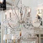 <B>【LA LUCE】</B>デザインクリスタルシャンデリア 6灯 クローム(W600×H600mm)
