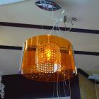 <B>【ALABASTER】</B>デザインクリスタルシャンデリア1灯 アクリルシェード(W400×H250mm)