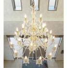 <B>【在庫有!】【LA LUCE】</B>クリスタルシャンデリア 24灯 ゴールドorクローム(W1000×H1150mm)