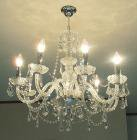 <b>【LA LUCE】</b>チェコクリスタルシャンデリア 8灯(W660×H640mm)