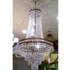 <B>【ALABASTER】</B>チェコクリスタル エンパイア型シャンデリア 11灯(W460×H1000mm)