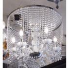 <B>【LA LUCE】</B>クリスタルシャンデリア 6灯 リングタイプ(W610×H800mm)