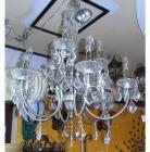 <B>【ALABASTER】</B>アイアンシャンデリア 9灯 クローム(W700×H700mm)