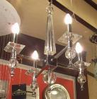 <B>【ALABASTER】</B>デザインシャンデリア 4灯 クローム(W400×H550mm)