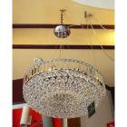 <B>【ALABASTER】</B>クリスタルボールシャンデリア 9灯 クローム(W500×H480mm)