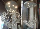 <B>【ALABASTER】</B>ボールクリスタルシーリングシャンデリア 7灯(W600×H1000mm)