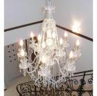 <B>【在庫有!】【LA LUCE】</B>クリスタルシャンデリア「マリア」12灯(W830×H1200mm)
