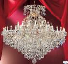 <B>【LA LUCE】</B>大型クリスタルシャンデリア 49灯 ゴールドorクローム(W1880×H1880mm)