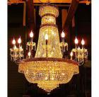 <B>【LA LUCE】</B>大型 エンパイア型クリスタルシャンデリア 38灯(W1100×H1300mm)