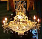 【LA LUCE】大型エンパイア・クリスタルシャンデリア 18灯(W950×H920mm)