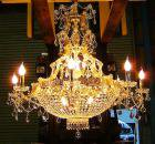 <B>【LA LUCE】</B>大型エンパイア・クリスタルシャンデリア 18灯(W950×H920mm)