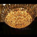 【LA LUCE】クリスタルシーリングシャンデリア 21灯 ゴールド(W800×300mm)
