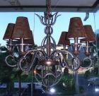 <B>【ALABASTER】</B>シェードアイアンシャンデリア 6灯(W900×H950mm)