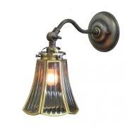 <b>【LAMPS】</B>ガラスシェードウォールランプ 1灯(W135×D250×H230mm)