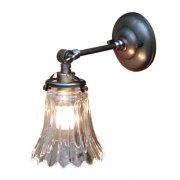 <b>【LAMPS】</B>ガラスシェードウォールランプ 1灯(W120×D210×H210mm)