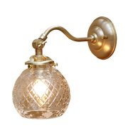 <b>【LAMPS】</B>ガラスシェードウォールランプ 1灯(W125×D245×H175mm)