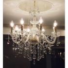 【LA LUCE】</B>チェコクリスタル シャンデリア 8灯 ゴールドorクローム(W700×H750mm)