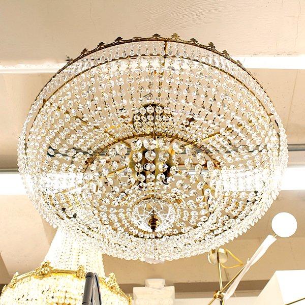 【1台在庫有!】【LA LUCE】シーリングシャンデリア9灯(φ800×H300mm)