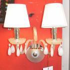 <B>【ALABASTER】</B>シェードブラケット 2灯 オフホワイト(W360×H475mm)