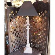 【1台在庫有!】【MathildeM.】フランス製 フレンチシック・シェードテーブルライト 1灯(W30×H81cm)