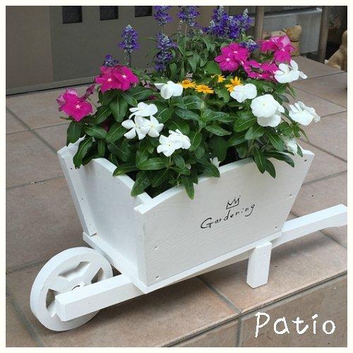 ガーデン一輪車プランター