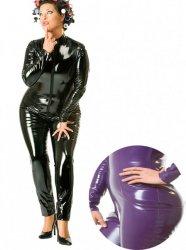 【大きいサイズ】PVCキャットスーツ/黒・紫【取寄(1〜3ヶ月)先払】【返品不可】ww-h2009