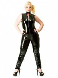 【大きいサイズ】PVCノースリーブキャットスーツ【取寄(1〜3ヶ月)先払】【返品不可】ww-h2010☆HNRキャットスーツ