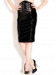 PVCコルセット風ハイウエストミディアムスカート【取寄(1〜3ヶ月)先払】【返品不可】ww-h2076☆HNRスカート
