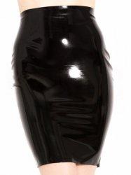 ラバー・ペンシルタイトスカート/黒【取寄(1〜3ヶ月)先払】【返品不可】ww-r1291