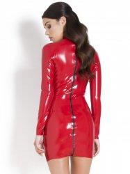 ww-r1896赤 ラバー・ビデビルドドレス【取寄(1〜3ヶ月)先払】【返品不可】