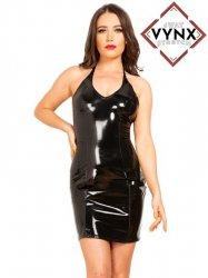 【VynX】4ウェイストレッチ・PVCホルダーネックドレス/黒【取寄(1〜3ヶ月)先払】【返品不可】ww-h4010☆HNRドレス
