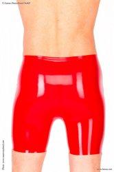 ラバーバミューダパンツ-赤【取寄(2〜6ヶ月)先払】【返品不可】latexa1102