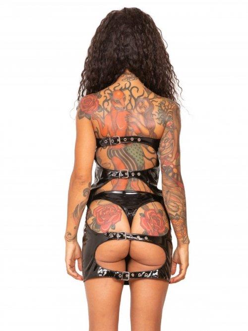 wwh1346-PVCスパンキングドレス