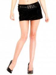 PVCベルト付きローライズミニスカート【取寄(1〜3ヶ月)先払】【返品不可】ww-h1363☆HNRスカート