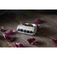 天然サファイアのリング(silver)