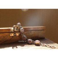 ブラジル産ローズクォーツのブレスレット(silver925)