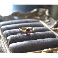 アフガニスタン産ピンクスピネルwithダイヤモンドのリング(k18)