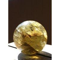 タンザニア産レモンクオーツスフィア(GoldenYellow)