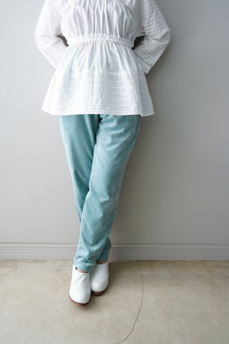 <img class='new_mark_img1' src='https://img.shop-pro.jp/img/new/icons1.gif' style='border:none;display:inline;margin:0px;padding:0px;width:auto;' />archi  LYCIUM PANTS  organic cotton ベロアパンツ-BLUE- S