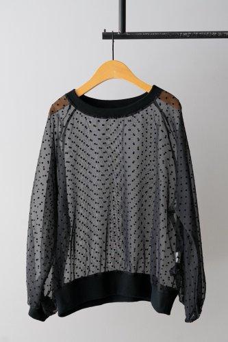 SI-HIRAI dots blouse (Black)