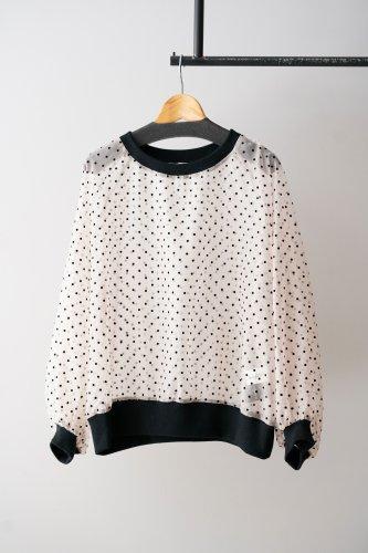 【sale!】SI-HIRAI dots blouse (White)