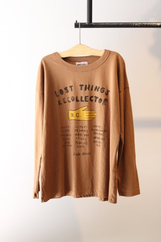 BOBO CHOSES「lost things recorector」cut and sew  (Brown)-kids