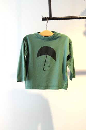 BOBO CHOSES 「umbrella」 cut and sew  (Green)-kids-18-24Months