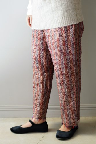 WONDER FULL LIFE  KANTHA Pants (Pink-4)