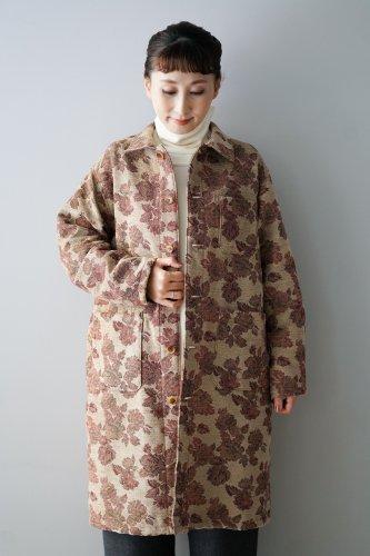【sale!】花とギターFlower Jacquard Coat (Beige)
