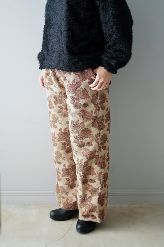 【sale!】花とギターFlower Jacquard Pants(Beige)