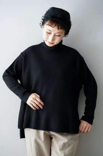C.T.plage Cashmere Turtleneck Wide Knit(Black)