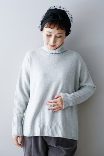 【sale!】C.T.plage Cashmere Turtleneck Wide Knit(Gray)