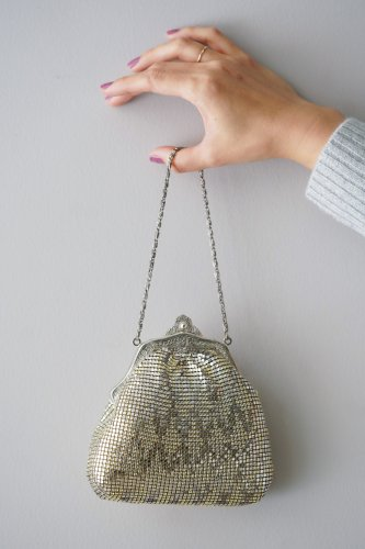 TITTI BOUTIQUE antique&vintage Chain shoulder Bag(GlitterSilver)