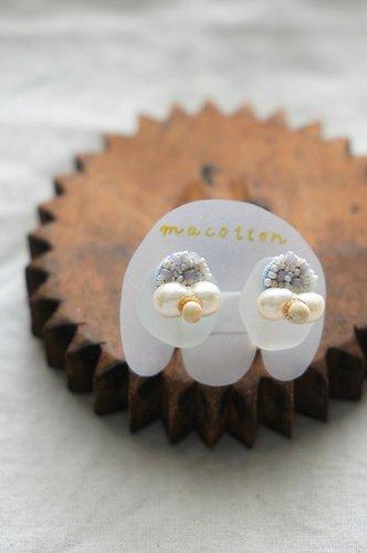 macotton Earring (Pearl×White×Grayish)